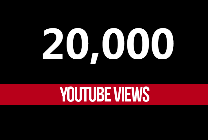 20k 20000 youtube views and 100 likes