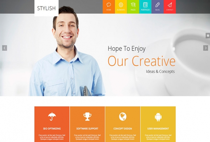 give you a Professional Wordpress template for