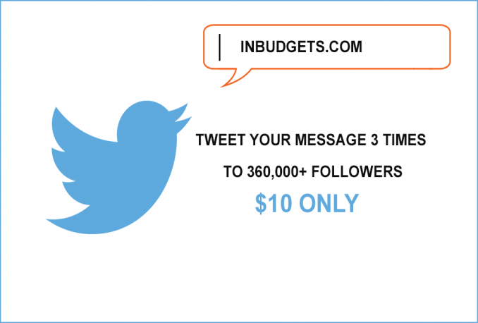 Tweet your message 3 times to 360,000+ followers