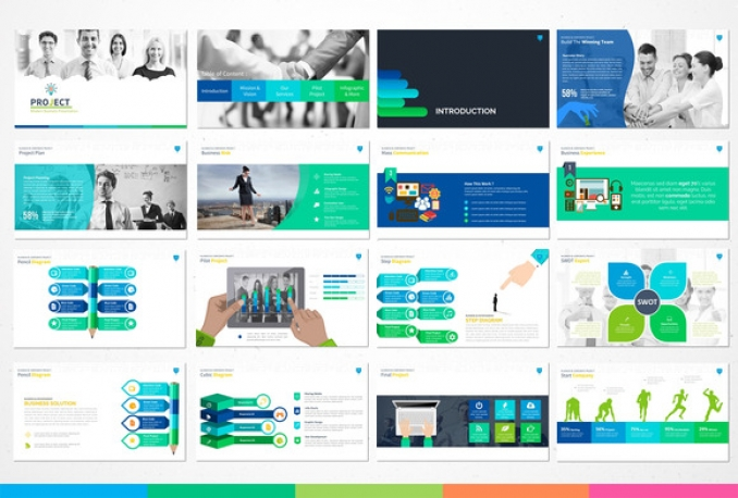 Give you Professional Powerpoint Template