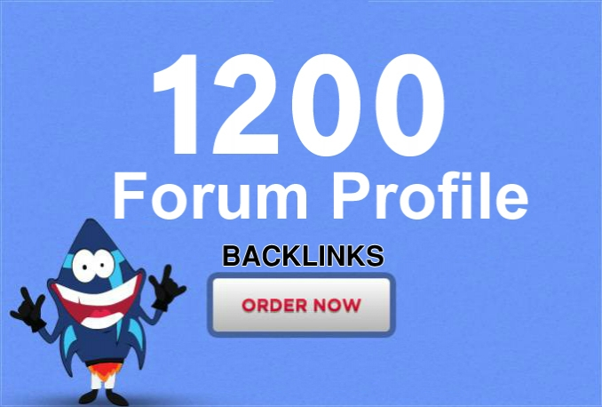 add your site to 1200 forum profiles HQ backlinks